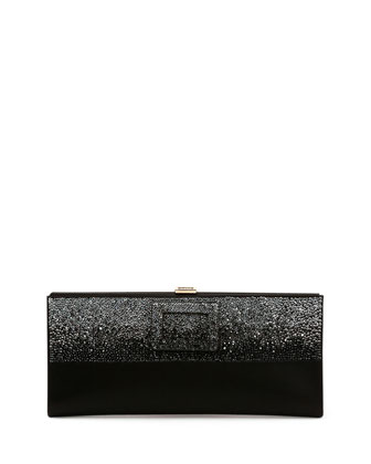 Pilgrim Small Crystal Degrade Clutch Bag, Black