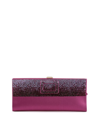 Pilgrim Small Crystal Degrade Clutch Bag, Wine