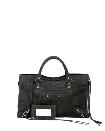 Classic City Baby Daim Suede Bag, Black
