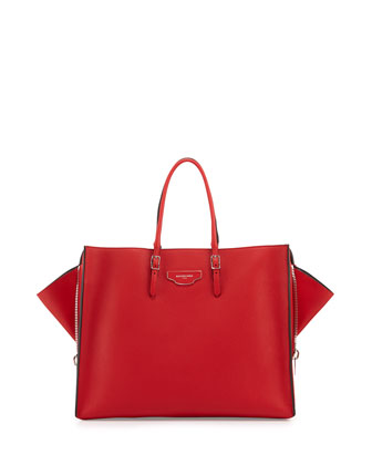 Papier Large Zip-Around Tote Bag, Red