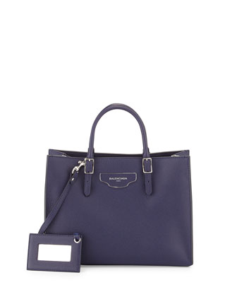 Papier Small Zip-Around Tote Bag, Blue
