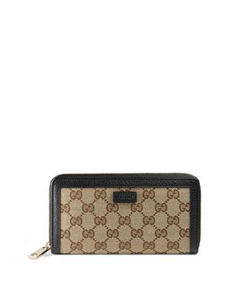 GG Classic Zip-Around Wallet