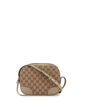 Bree Original GG Canvas Disco Bag, Beige/Gold