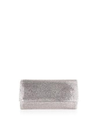 Manhattan Crystal Clutch Bag, Silver
