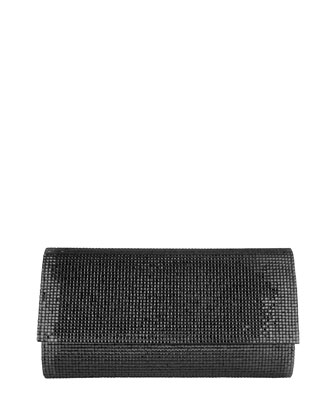 Manhattan Crystal Clutch Bag, Silver Jet