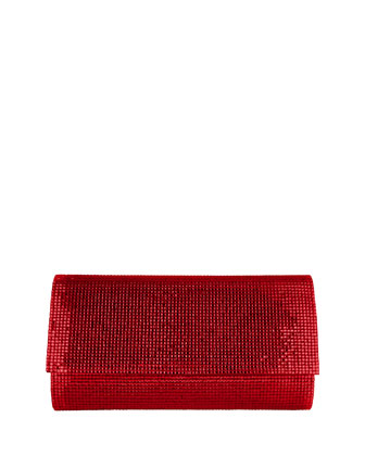 Manhattan Crystal Clutch Bag, Silver Cherry