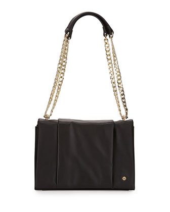 Leather Shoulder Bag, Black