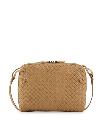 Veneta Small Crossbody Bag, Camel
