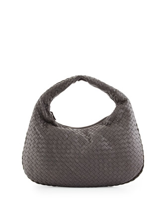 Veneta Medium Sac Hobo Bag, Gray