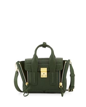 Pashli Mini Leather Satchel Bag, Jade