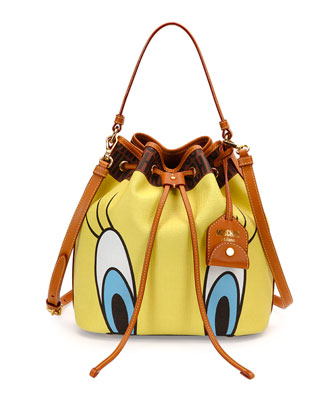 Tweety Bird Bucket Bag, Yellow Multi