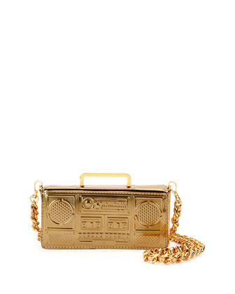 Boom Box Shoulder Bag, Gold