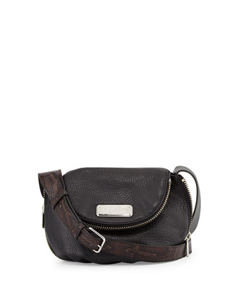 New Q Zipper Mini Natasha Bag, Black Multi