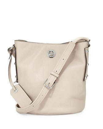 C-Lock Leather Bucket Bag, Papyrus