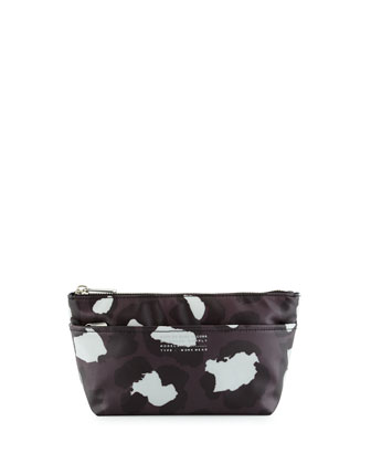 Perfect Leopard-Print Pouch, Gunmetal Multi