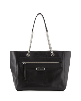Top of the Chain Tote Bag, Black