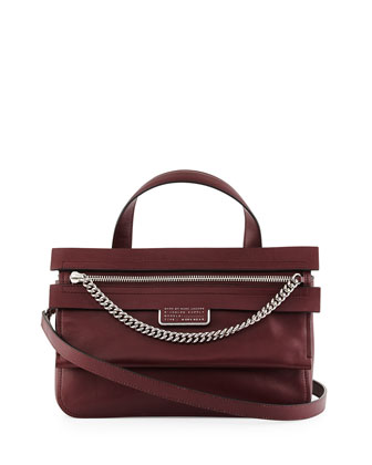Top of the Chain Satchel Bag, Cardamon