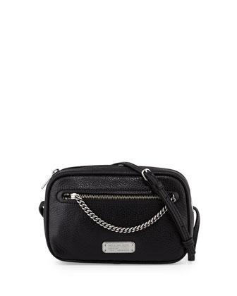 Sally Crossbody Bag w/Chain Detail, Black
