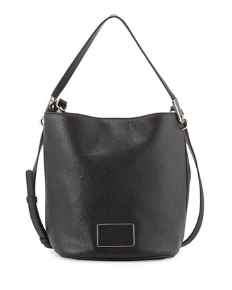 Ligero Leather Bucket Bag, Black