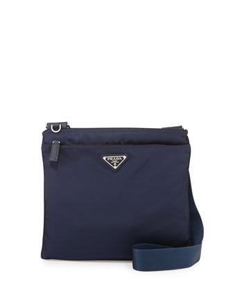 Vela Small Nylon Crossbody Bag, Blue (Baltico)