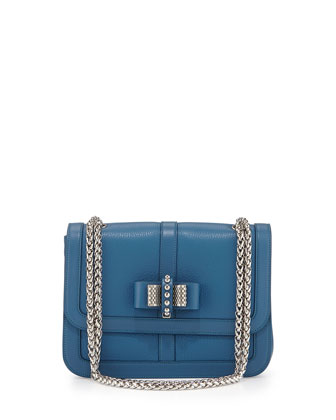Sweet Charity Small Calfskin Shoulder Bag, Ocean