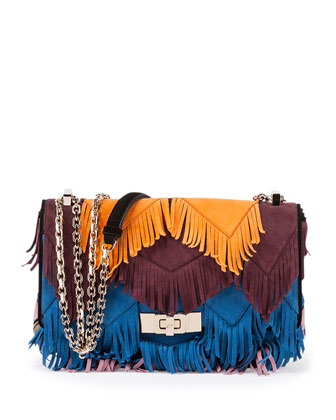Prismick Mini Fringe Shoulder Bag, Multi
