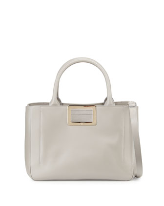Ines East-West Small Tote Bag, Gray