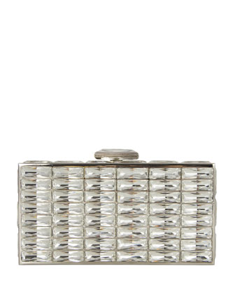 New Goddess Crystal Clutch Bag, Silver