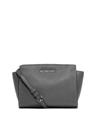 Selma Medium Messenger Bag, Steel Gray