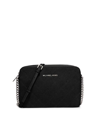 Jet Set Travel Large Crossbody Bag, Black