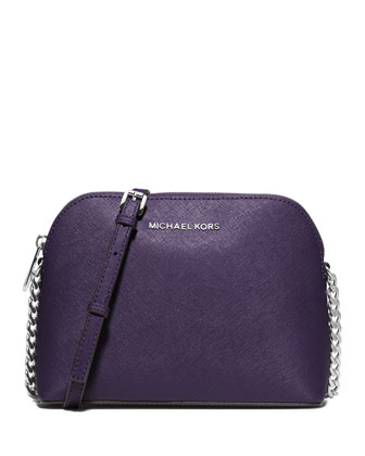 Cindy Large Dome Quilted Crossbody Bag, Iris