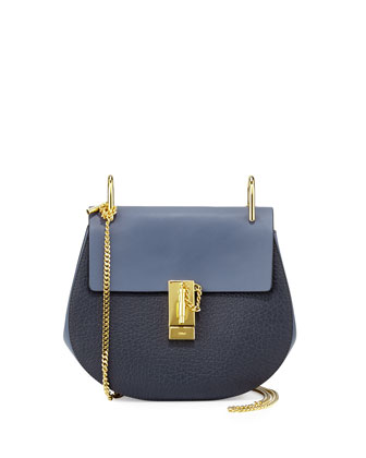 Drew Small Shoulder Bag, Navy/Blue
