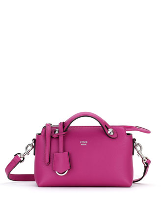 By the Way Mini Calf Satchel Bag, Magenta