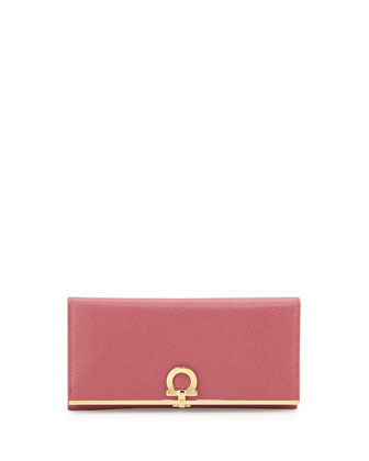 Icona Continental Flap Wallet, Griotte