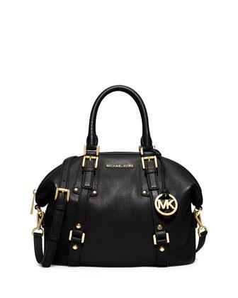 Bedford Belted Medium Satchel Bag, Black