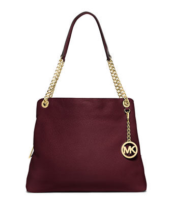 Jet Set Chain Large Shoulder Bag, Merlot
