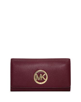 Fulton Carryall Flap Wallet, Merlot