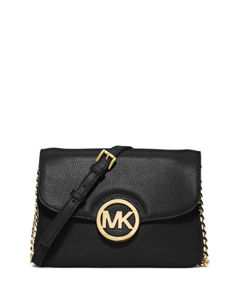 Fulton Flap Crossbody Bag, Black
