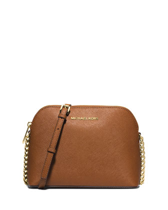 Cindy Large Dome Crossbody Bag, Luggage
