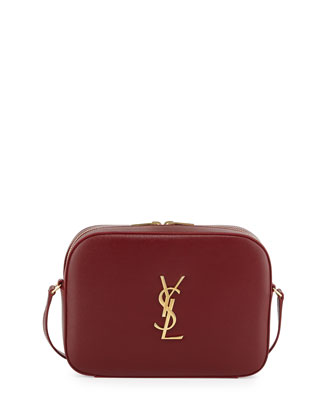 Monogram Camera Medium Crossbody Bag, Dark Red