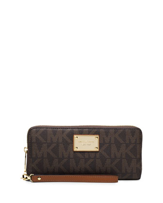 Jet Set Travel Continental Wallet, Brown