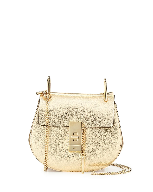 Drew Mini Shoulder Bag, Gold, Pale Gold - Chloe