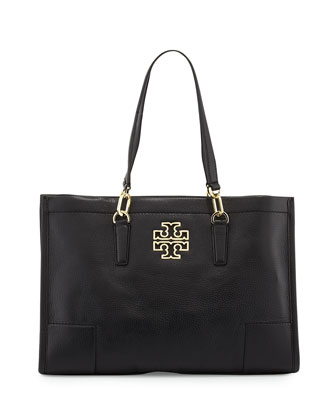Britten Leather Tote Bag, Black