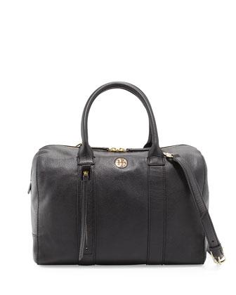 Brody Leather Satchel Bag, Black