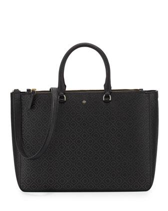 Robinson Perforated Tote Bag, Black