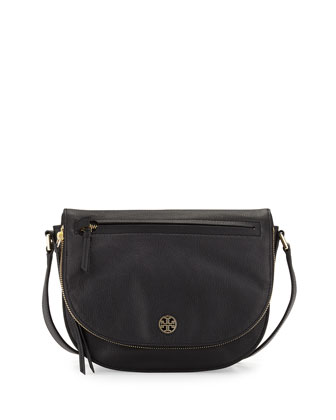 Brody Leather Saddle Bag, Black