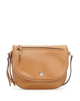 Brody Leather Saddle Bag, Bark