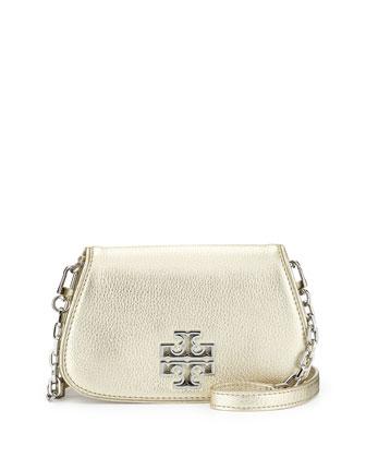 Britten Mini Crossbody Bag, Light Gold