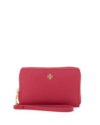 York Smartphone Wristlet Wallet, Raspberry