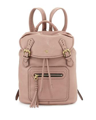 Jaylin Leather Backpack, Mushroom